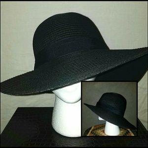 Nordstrom Black Straw Hat